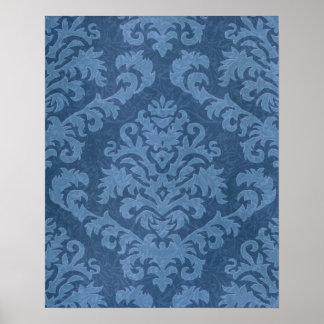 Terciopelo del corte del damasco, tapicería impresiones
