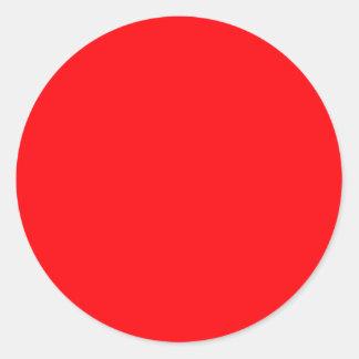 Terciopelo del rojo del navidad etiquetas redondas