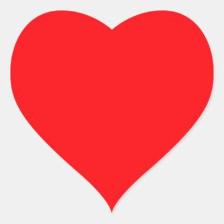 Terciopelo del rojo del navidad pegatina en forma de corazón