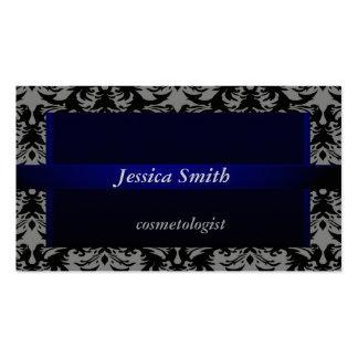 Terciopelo moderno elegante profesional del damasc plantilla de tarjeta de visita