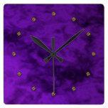 terciopelo púrpura relojes