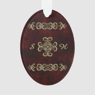 Terciopelo rojo con el ornamento de oro