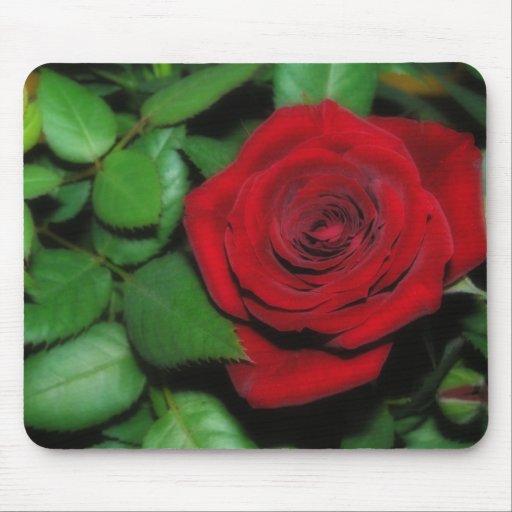 Terciopelo rojo Mousepad Alfombrillas De Ratón