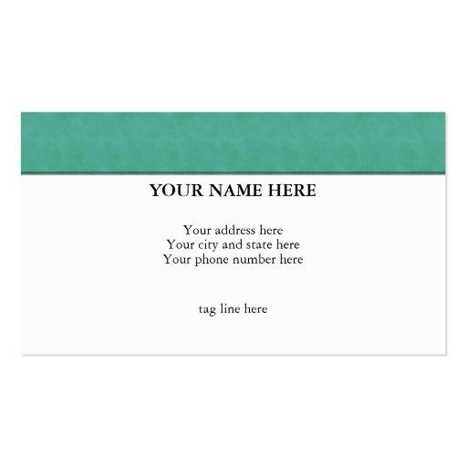 """""""Terciopelo verde 2"""" tarjeta de visita"""