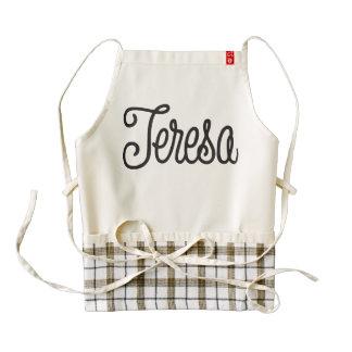Teresa Authentic Retro Typography Zazzle HEART Apron