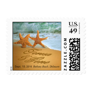 Teresa Starfish Couple ASK 4 NAMES IN THE SAND Postage