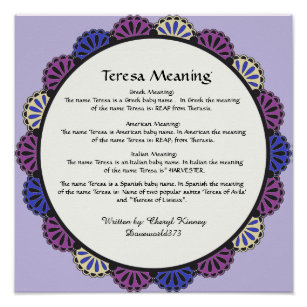 Name Meaning Posters & Photo Prints | Zazzle
