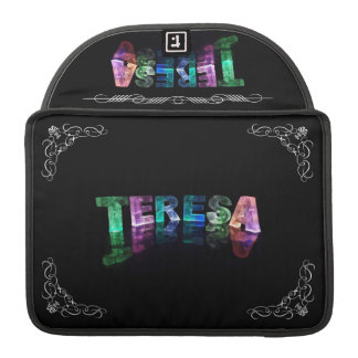 Teresa  - The Name Teresa in 3D Lights (Photograph MacBook Pro Sleeves