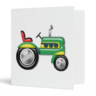 Teriffic Green Tractor 3 Ring Binder