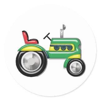 Teriffic Green Tractor Classic Round Sticker