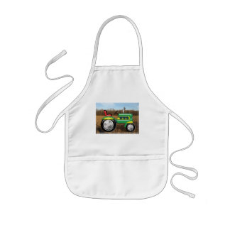 Teriffic Green Tractor in the Fields Kids' Apron