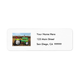 Teriffic Green Tractor in the Fields Return Address Label