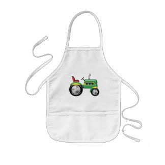 Teriffic Green Tractor Kids' Apron