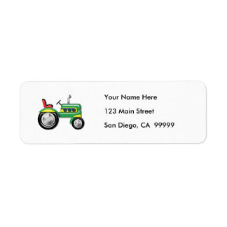 Teriffic Green Tractor Label