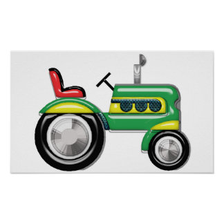 Teriffic Green Tractor Poster