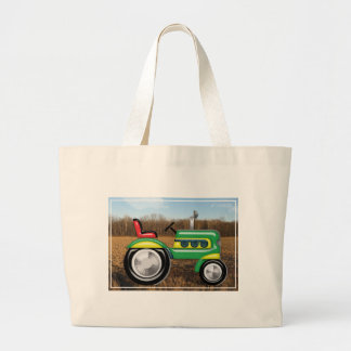Teriffic Tractor in the Field Large Tote Bag