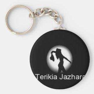 TerikiaJazhara Basic Round Button Keychain