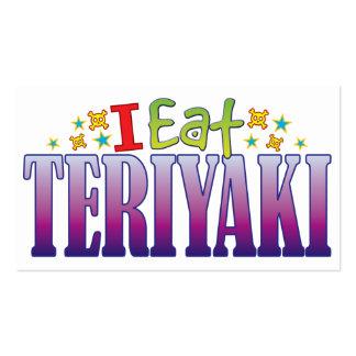 Teriyaki I come Tarjetas De Visita