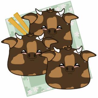 Teriyaki Moo Moo Dumplings Platter Cut Outs