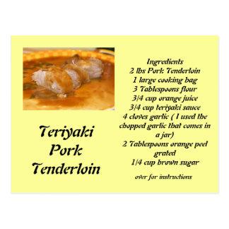Teriyaki Pork Tenderloin Postcard