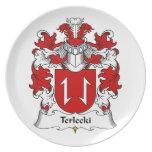 Terlecki Family Crest Dinner Plate