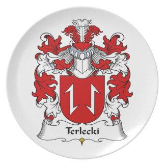 Terlecki Family Crest Melamine Plate
