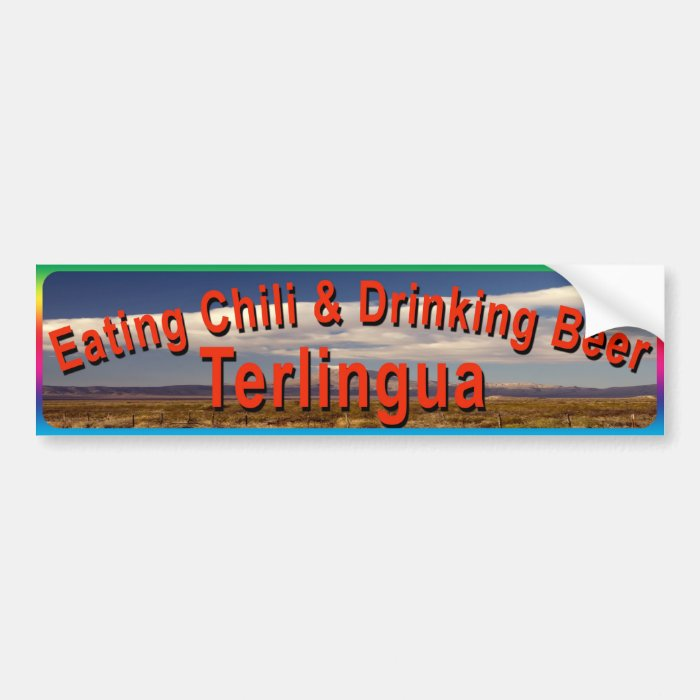 Terlingua Eating Chile Bumper Sticker