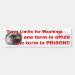Term Limits Car Bumper Sticker