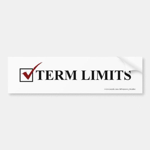 Term Limits, Vote - Bumper Car Bumper Sticker