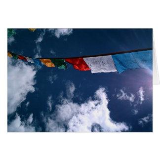 Terma Foundation Blank Notecard- Prayer Flags Card