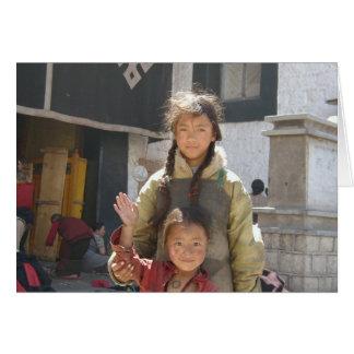 Terma Foundation Blank Notecard- Tibetan Children Card
