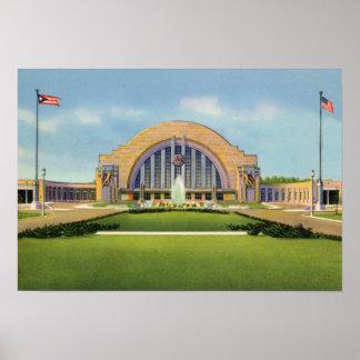 Terminal de la unión de Cincinnati Ohio Poster