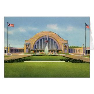 Terminal de la unión de Cincinnati Ohio Felicitacion
