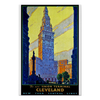 Terminal de la unión de Cleveland Poster