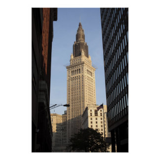 Terminal Tower, View from Street Poster