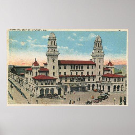 Terminal Train Station, Atlanta 1923 Vintage Posters