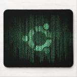 Terminal verde de Linux Alfombrillas De Raton