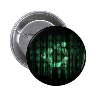 Terminal verde de Linux Pin Redondo 5 Cm