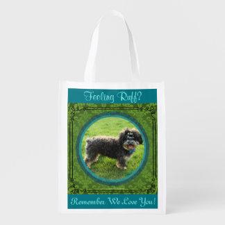 Terminally Ill Gift Bag. Add Their Dog Photo! Reusable Grocery Bag