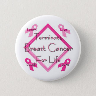 Terminate Breast Cancer Pinback Button
