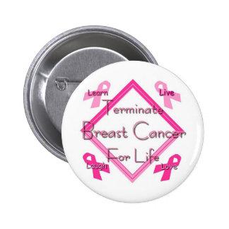 Terminate Breast Cancer Pinback Button
