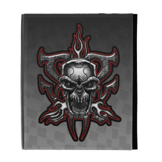 Terminator Skull Illustrated Chrome iPad Folio iPad Folio Cover