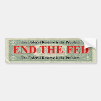 Termine a la pegatina para el parachoques de FED Etiqueta De Parachoque
