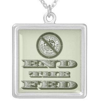 Termine al libertario de FED Federal Reserve Colgante Cuadrado