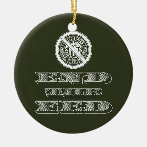 Termine al libertario de FED Federal Reserve Ornamentos Para Reyes Magos