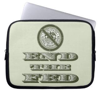 Termine al libertario de FED Federal Reserve Fundas Portátiles