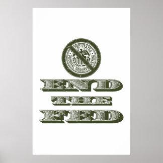 Termine al libertario de FED Federal Reserve Poster