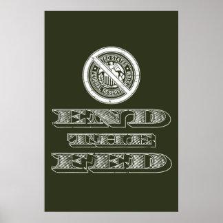 Termine al libertario de FED Federal Reserve Impresiones