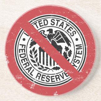 Termine al libertario de FED Federal Reserve Posavasos Diseño