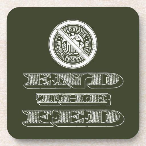 Termine al libertario de FED Federal Reserve Posavasos De Bebida